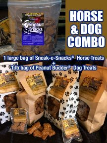 Sneak-e-Snacks Horse Treats and Peanut Budder Dog Treats Combo